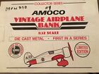 Amoco Vintage Airplane Bank Die Cast Metal 1:32 Collector Series #1