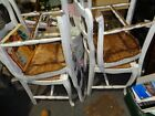 4 old kitchen chairs retro shabby shic