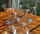 5 Champagne Glasses Trumpet Flutes Hollow Stems 5 3/4 Inch Tall Martini Vintage