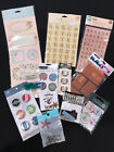 Lot of 12 New in Package Scrapbooking Mixed EMBELLISHMENTS  STICKERS