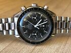 Omega Speedmaster Chronograph Automatic Black Dial 39mm Stainless 175.0032 MINT!