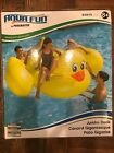 AQUA FUN BY POOLMASTER JUMBO DUCK RIDE ON POOL OR LAKE FLOAT ITEM 83675