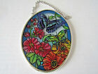 Butterflies Flowers Garden Party AMIA Stained Glass Suncatcher New