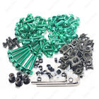 Green Fairing Bolt Kit body screws Clips For Honda NSR250R 1990-1993 1994-1999