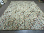9 X 12 American Hand Made Hooked Rug All Over Wool Rug Flowers Nice