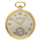 Patek Philippe Vintage Pocket Watch Manual 44mm Yellow Gold Silver Dial