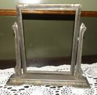 Antique Swing/Tilt Table Top Wood Picture Frame, No Backing Or Glass