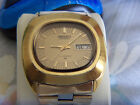 Vintage Seiko Mechanical Automatic 17 Jewels Day Date Men Watch.