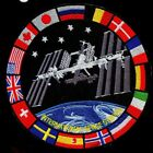 NASA ISS INTERNATIONAL SPACE STATION muti national flags 6 inch huge