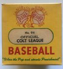 1950's DeBeer & Son Double Header Baseball Sealed in Box Official Colt League