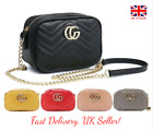 Designer Gucci Inspired Leather Quilted Chevron Cross Body Quilted Shoulder Bag