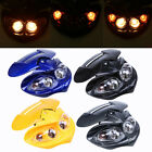 12V Motorcycle Street Fighter Headlight Amber Fairing Lamp for Honda