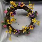 Spring Floral Door Hanging Summer Flower Home Decor Wreath