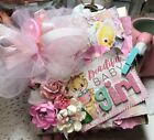 Handmade Baby Girl Scrapbook paper bag Mini Album