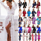 Silk Satin Wedding Party Bridesmaid Women Bathrobe Gown Kimono Pajamas Nightwear