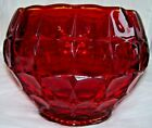 Vintage Indiana Glass Ruby Red Constellation Large Heavy Bowl Hint of Amber