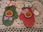 Primitive Christmas ginger#3 oven mitt ornies bowl fillers dolls shelf sitters