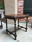 Petite Antique French Country Oak BARLEY TWIST Serpentine Tea Coffee TABLE