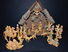 Fontanini nativity set 23 piece 5 inch scale wood Creche Depose Italy 1987
