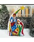 Light Up LED STAINED GLASS LOOK NATIVITY SET 6 Ft Tall Indoor Outdoor NIOB
