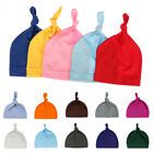Soft Solid Color Infant Sleep Hat Baby Knotted Hat Beanies Kids Cotton Cap