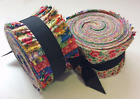 Vintage Floral Shabby chic light jelly roll cotton fabric quilt strips 25 inch