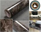 Countertop Vinyl Self Adhesive Film Brown Black Marble 12x 79 Contact Paper
