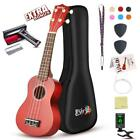 Soprano Ukulele Beginner Pack 21 Inch w Gig Bag Fast Learn Songbook Digital T