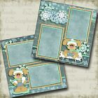 Furry Flurries WINTER 2 Premade Scrapbook Pages EZ Layout 3654