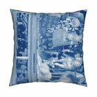 Jesus Christmas Nativity Throw Pillow Cover w Optional Insert by Roostery