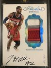 John Wall 2016-17 Panini Flawless PLATINUM Jersey Patch Auto #1 1 One Of One 🔥