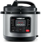 GoWISE USA Electric Pressure Cooker 6 Qt. 12-Presets Stainless Steel Recipe Book