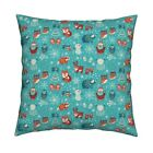 Winter Nativity Christmas Yeti Throw Pillow Cover w Optional Insert by Roostery