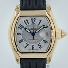 Cartier Roadster, Ref 2524, 18K Yellow Gold, Men's Black Leather Band, Automatic