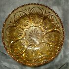 Mint Amber Glass Chip and Dip Bowls Star and Cameo Anchor Hocking Pressed Glass