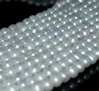 7 8MM BRIDAL WHITE NATURAL PEARL GEMSTONE GRADE AAA ROUND LOOSE BEADS 15
