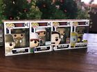 Funko Pop! Stranger Things Lot: Hopper, Dustin, Mr. Clarke, and Biohazard Hopper