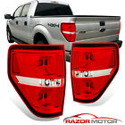 2009 2014 Red Clear Replacement Brake Tail Lights Pair For Ford F150 F 150