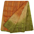 Vintage Saree Indian Sarong Fabric Bandhani Printed Pure Khadi Silk Sari PSK1339