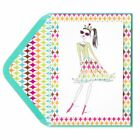 Papyrus Sassy Queen Gal With Multi Color Border Birthday Card