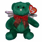 Ty Beanie Baby Hark green - MWMT (Bear Angel 2007) Christmas