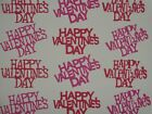 12  Happy Valentines Day  words die cuts for scrapbook greeting cards cut
