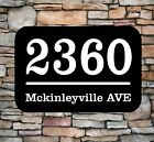 Personalized Home Address Sign Aluminum 12 x 8 Custom House Number Plaque sq1