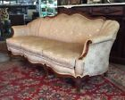 Antique French Victorian Carved Mahogany Sofa Settee Couch