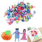 Metal Craft Multicolor Mix Brads Paper Fasteners Scrapbooking Card 50Pcs lot