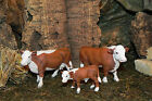 Retired Schleich Bull Cow Calf Hereford Figurines for 35 Nativity Scene Farm
