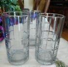 vintage heavy iced tea drinking glasses clear set of 3