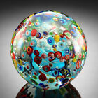 Glass Confetti Sphere Paperweight