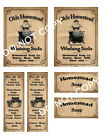 Olde Homestead Washing Soap Label Set #FH441 Make Your Own Box