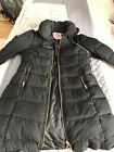 Juicy Couture Black Down Blend Puffer Coat Parka Jacket Size Small